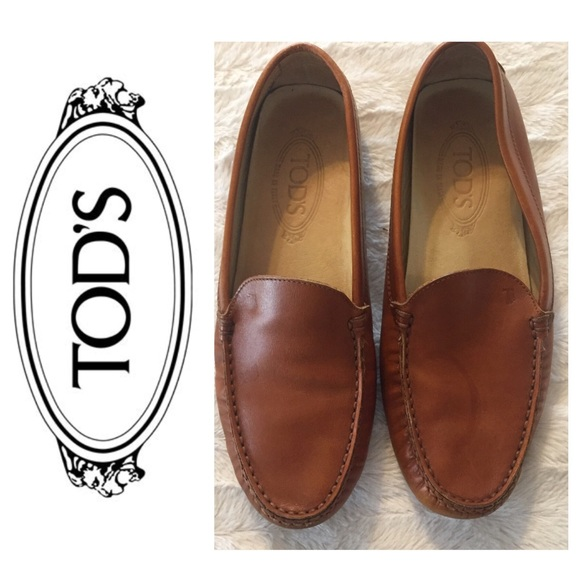 1f6ae2e8f1a Tod's Shoes | Tods Cognac Calfskin Driving Loafers Sz 9 | Poshmark